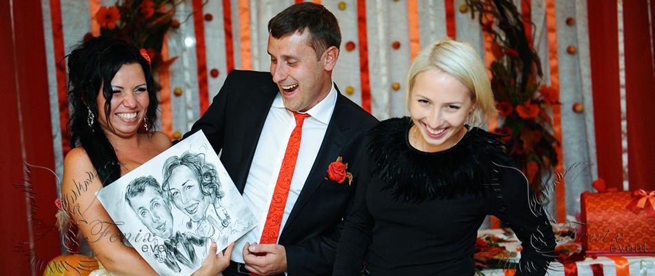 Шаржист на свадьбу в Москве недорого!