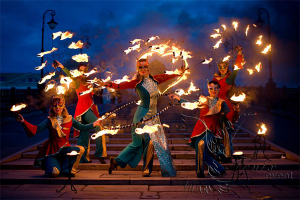 Огненное шоу на свадьбу Москва