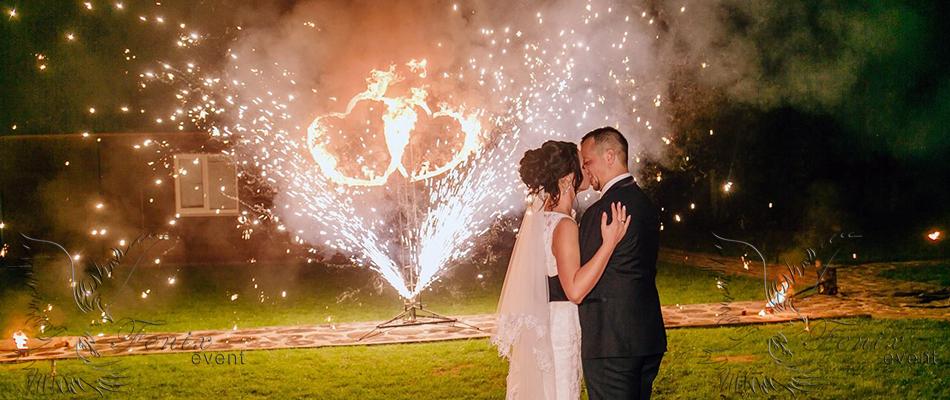 Заказать огненное шоу на свадьбу
