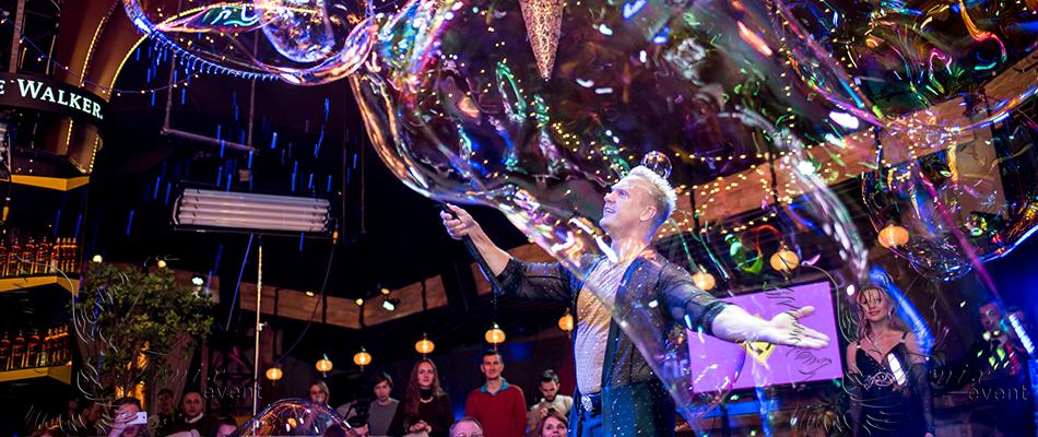 Заказать шоу мыльных пузырей на выпускной Москва