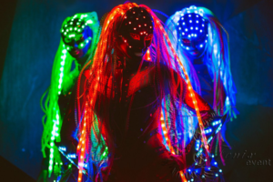 Световое шоу на Хэллоуин Москва
