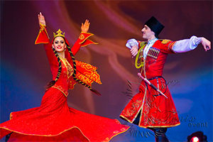 Коллектив кавказских танцев на юбилей Москва