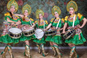 Оркестр барабанщиц на юбилей Москва