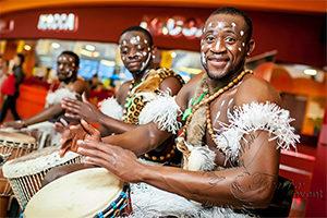 Шоу Африканских барабанщиков на юбилей Москва