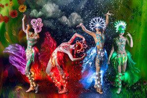 Световое шоу на юбилей Москва
