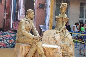 Живые статуи скульптуры на юбилей Москва