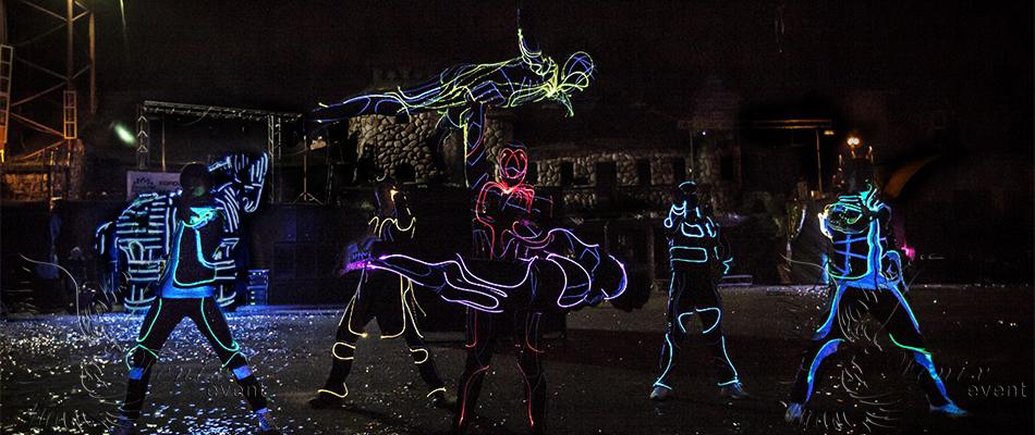 Заказать световое акробатическое шоу в Москве