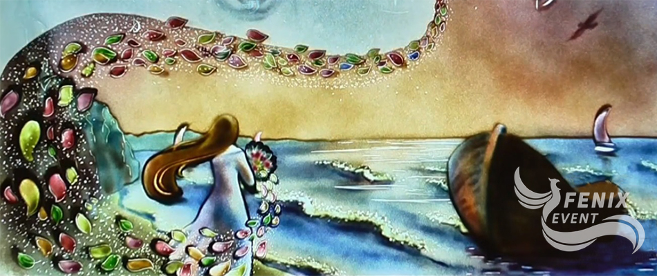 Цветное песочное шоу на свадьбу в Москве. Цветное песочное шоу на свадьбу Москва.