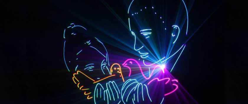 Заказать лазерное шоу на праздник и свадьбу в Москве